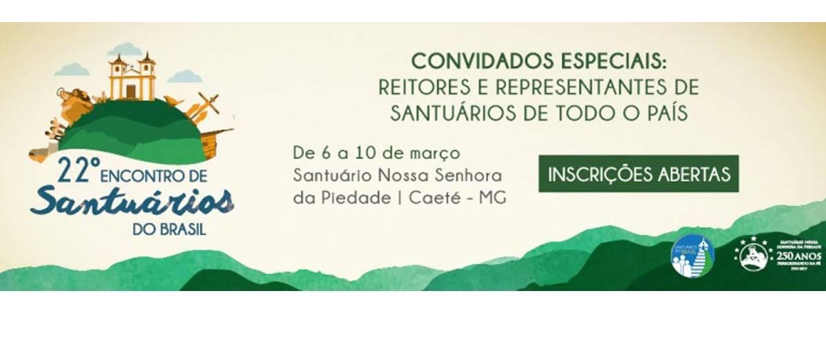 Inscrições abertas para o Encontro de Santuários do Brasil