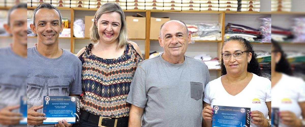 Jeandrierri e Eliana. Cinco anos de dedicação a CORDIS