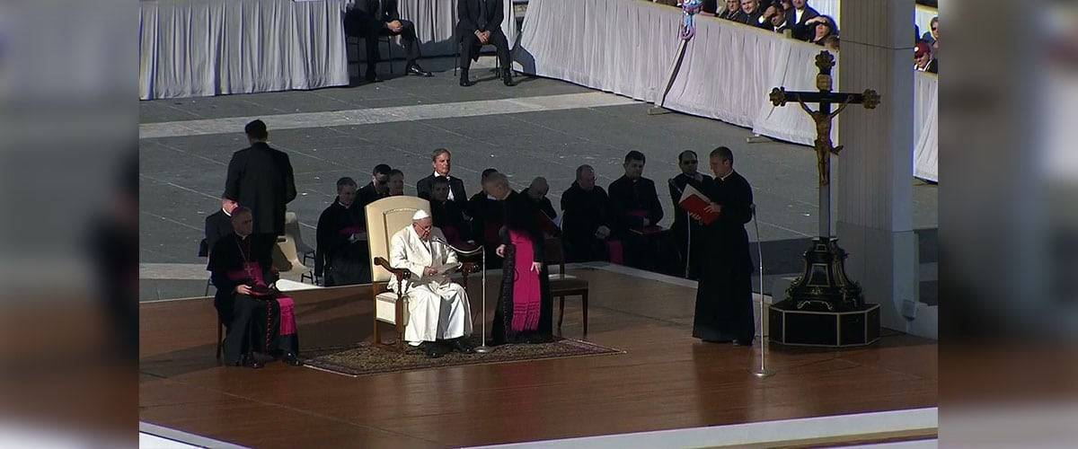 Papa na Audiência: a esperança é uma Pessoa, Jesus Cristo