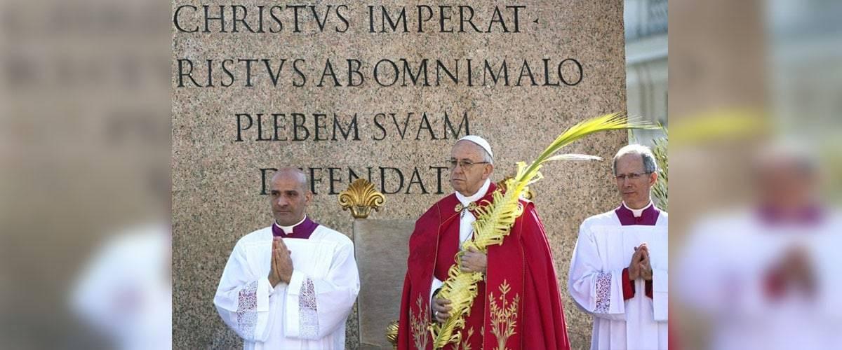 Domingo de Ramos: Papa, Jesus está presente nos que padecem tribulações como Ele