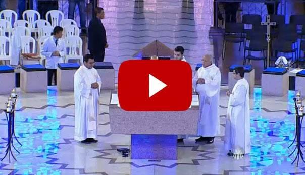 Ao Vivo: Bispo da Diocese de Colatina recebe imagem jubilar de Aparecida