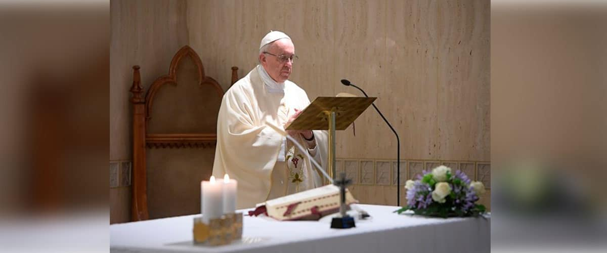 """Papa Francisco: """"O cristão não tem um horóscopo para ver o futuro."""""""