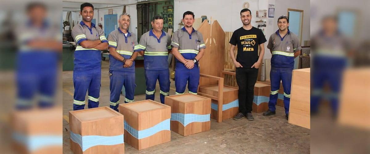 Santuário apresenta mobiliário desenvolvido especialmente para a festa da Padroeira
