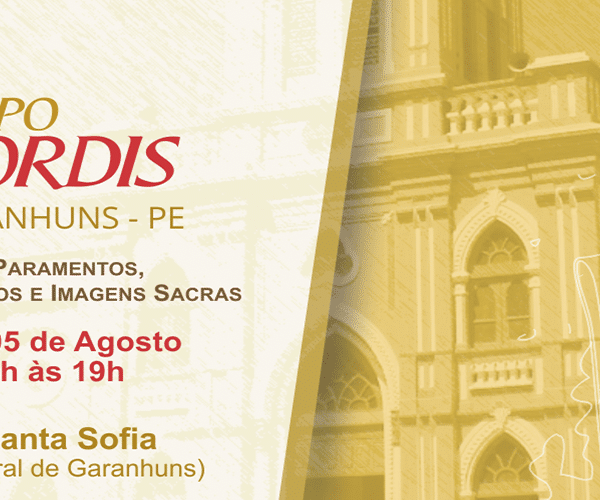 Feira de paramentos e objetos litúrgicos CORDIS chega à cidade de Garanhuns/PE